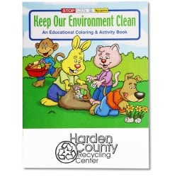 1034 Keep Our Environment Clean Coloring Book | Promotional Products from 4imprint