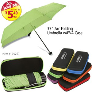 "37"" Arc Folding Umbrella w/EVA Case #105263"