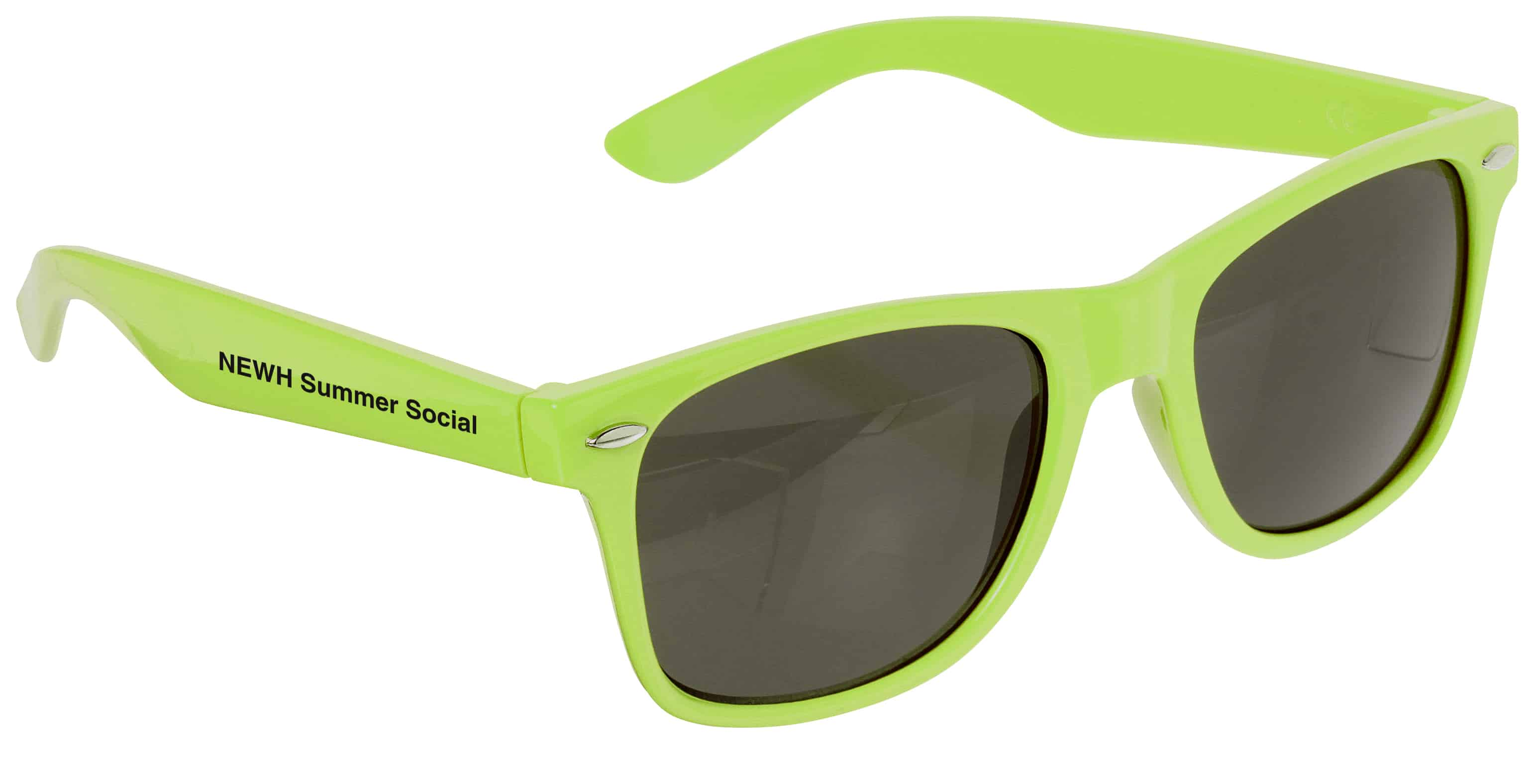 A pair of neon green Risky Business Sunglasses.