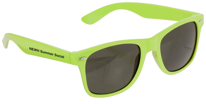 Neon green Risky Business Sunglasses.