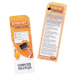 110336 Just The Facts Bookmark Internet Safety | Promotional Products from 4imprint