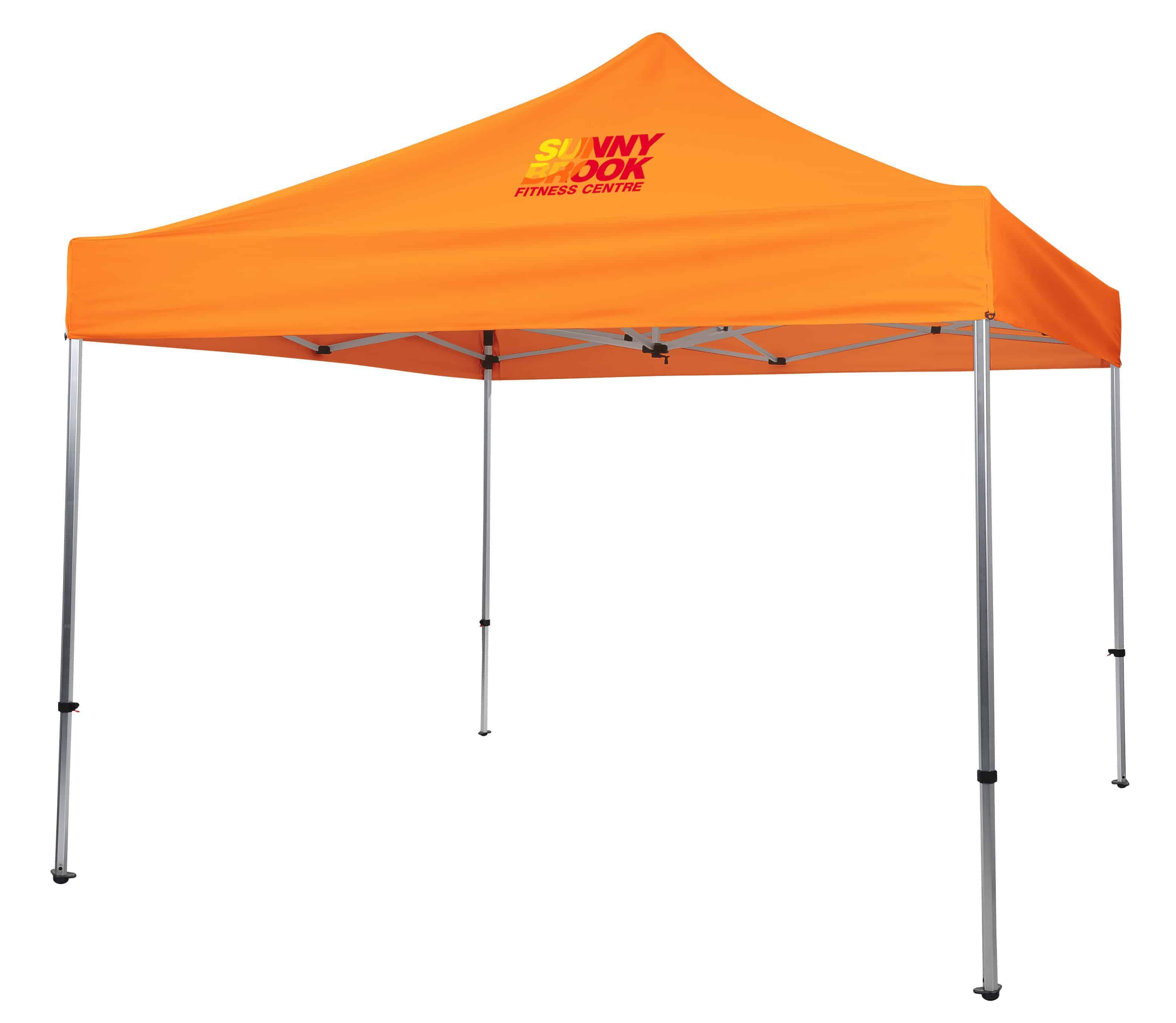 An orange Premium 10' Event Tent.