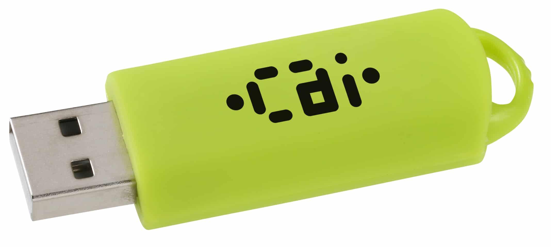 A 128 MB Clicker USB Drive.