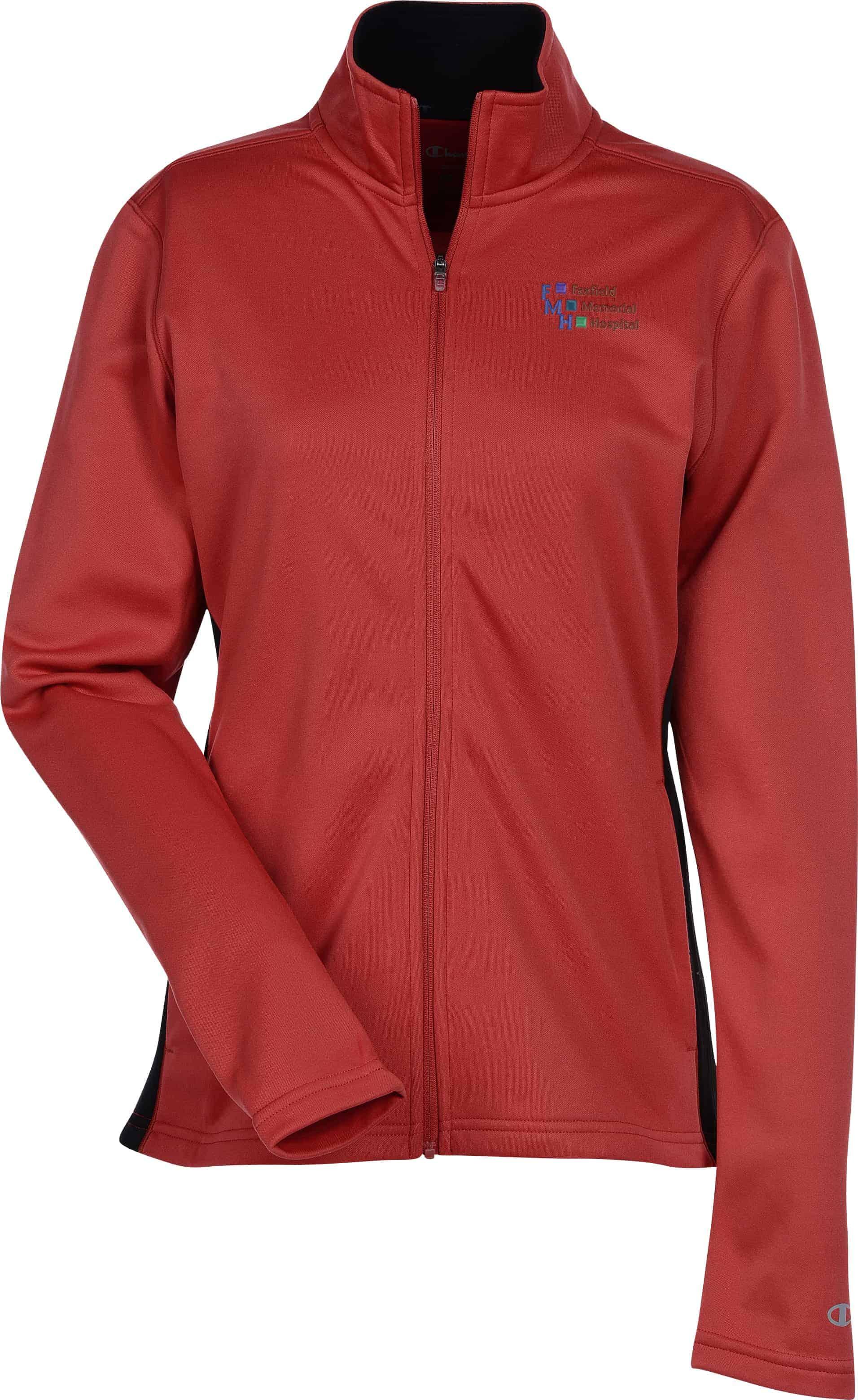 A long-sleeved light jacket with zipper.