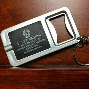 A Key-Light Bottle Opener and keychain.