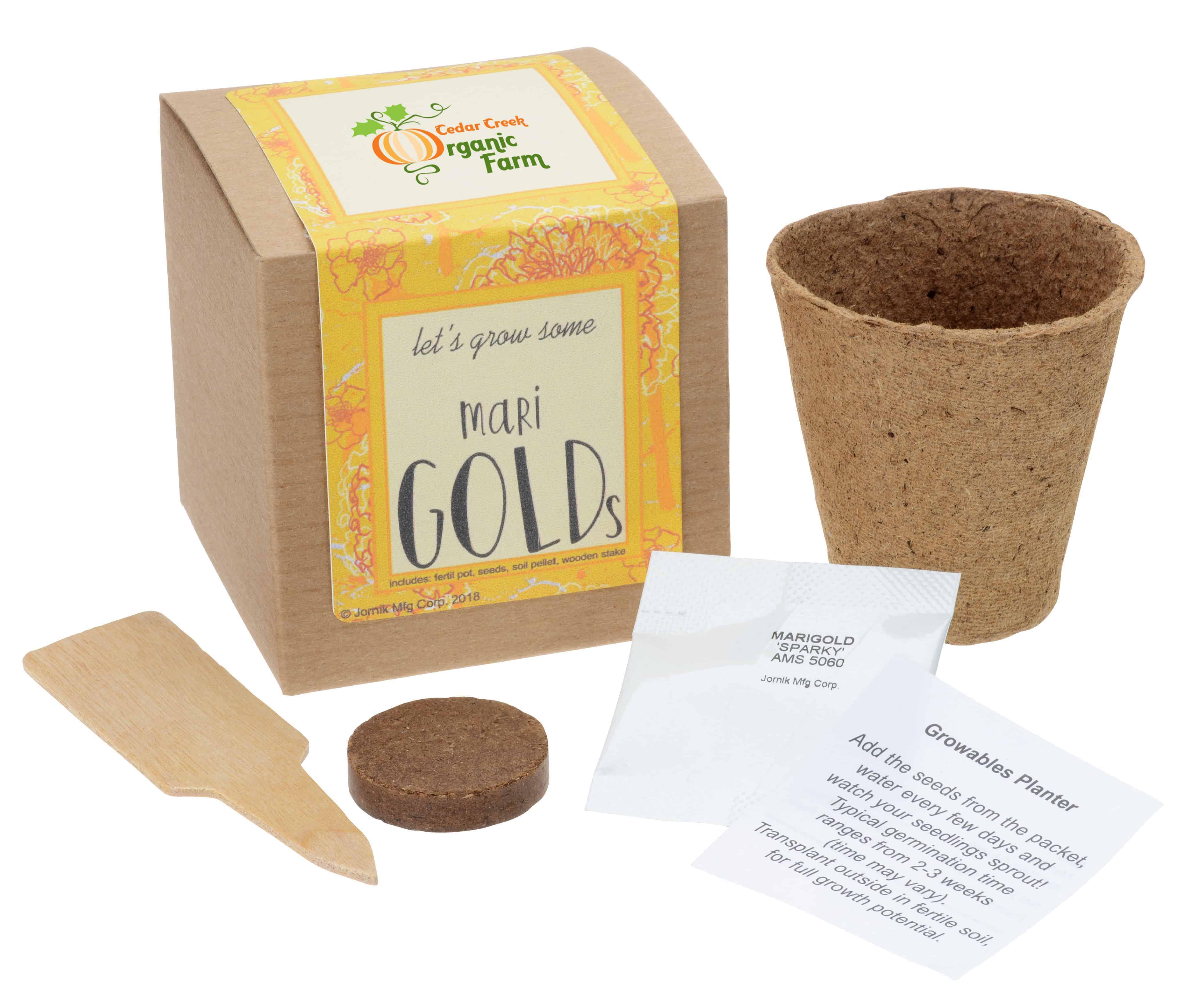A Growable Planter Gift Kit for Flowers.