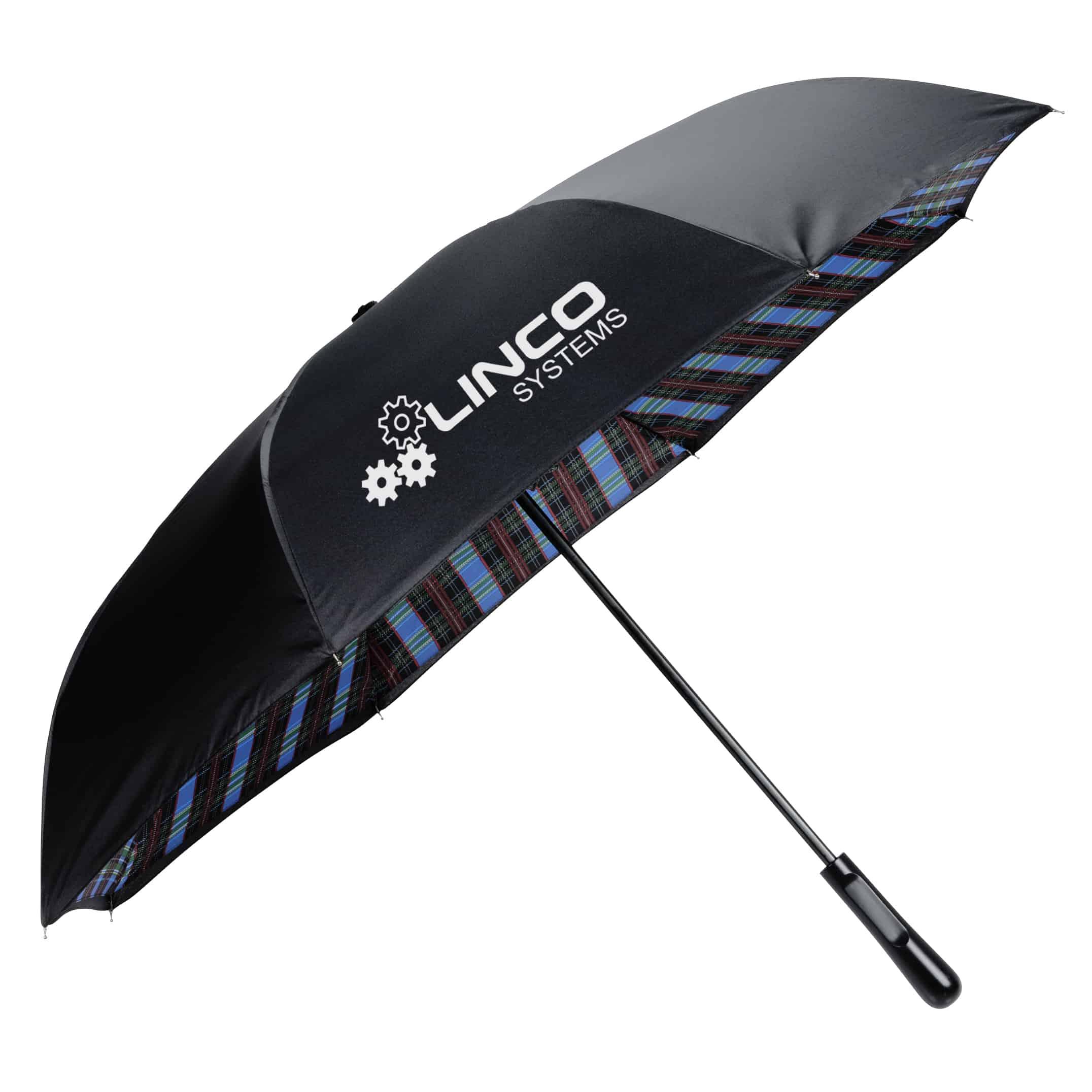A Plaid Inversion Umbrella.