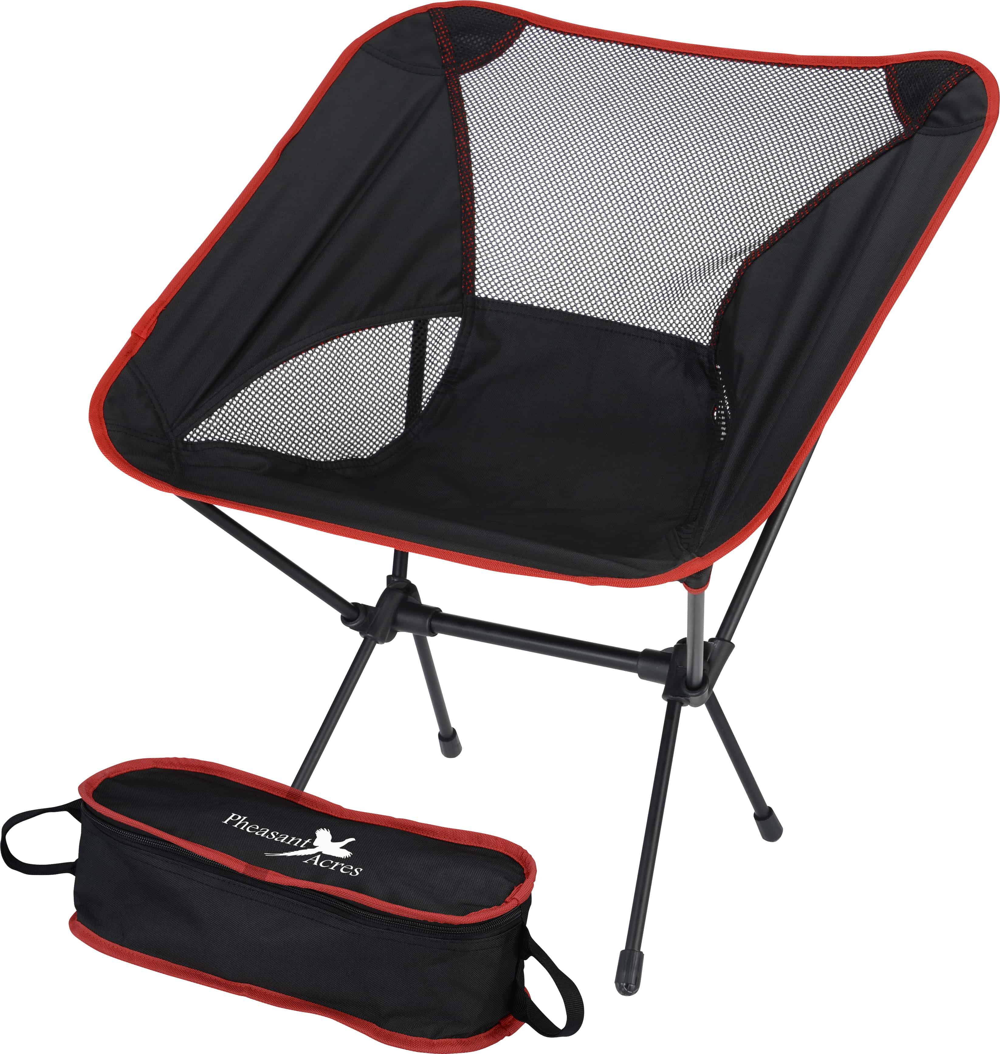 An Outdoor Folding Chair with Travel Bag.