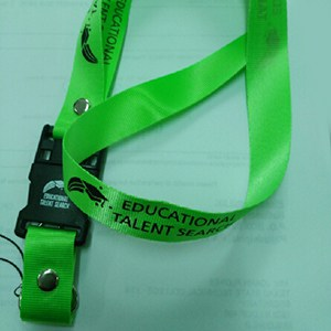 One green lanyard