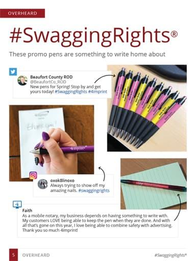 thumbnail of overheard story: promotional pens
