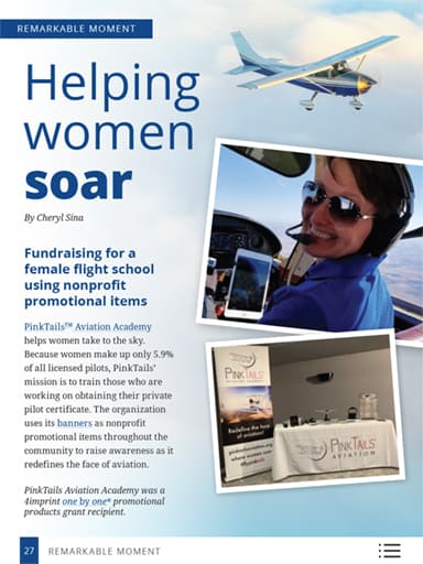 thumbnail of remarkable moments: Helping women soar