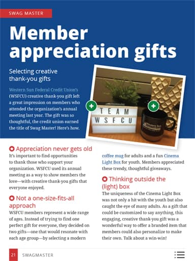 thumbnail of swag master: member appreciation gifts