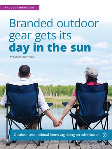 thumbnail of promotional highlight: Branded outdoor gear gets its day in the sun