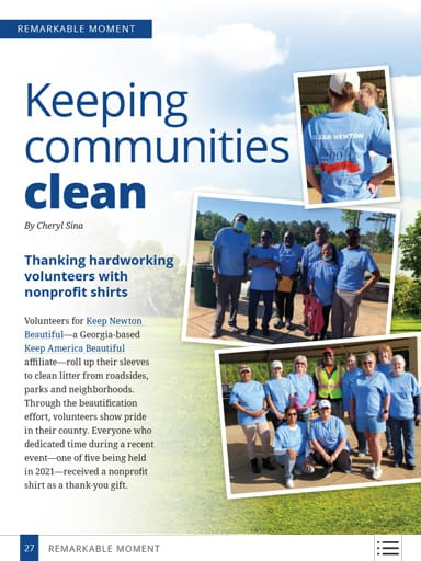 thumbnail of remarkable moments: Keeping communities clean