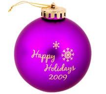 "4imprint 3 1/4"" Round Shatterproof Holiday Ornament, Item No. 4316"