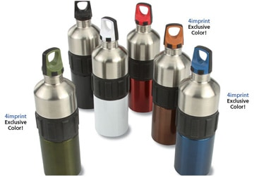 Stainless Steel Water Bottles with Additional Features Added