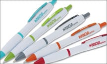 4imprint Curvy Pen - White, Item No. 7702-W