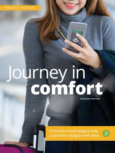 Product Highlight - Journey in Comfort - First-class travel swag to help customers navigate with ease