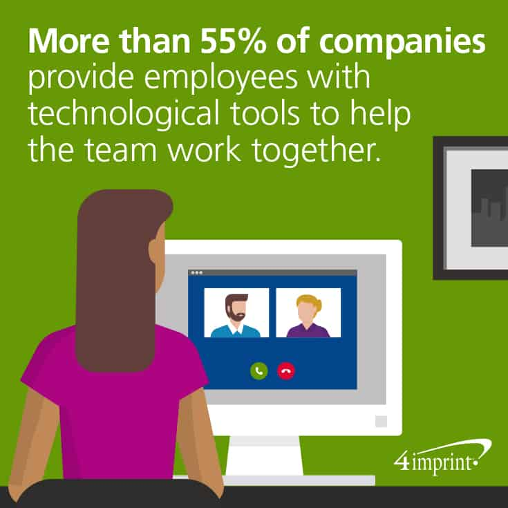 Companies provide tech tools to help teams work together