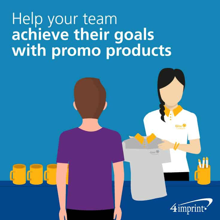 Help your team achieve their goals with promo products