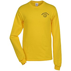Adult 5.2 oz. Cotton Long Sleeve T-Shirt – Screen | T-shirt giveaways from 4imprint.