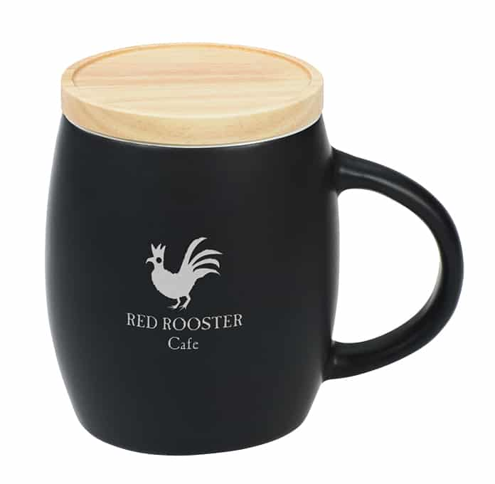 Hearth Coffee Mug with Wood Lid Coaster