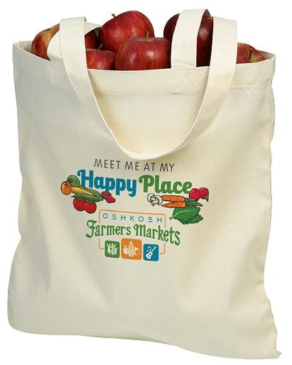 Oshkosh Farmers Market branded tote bag