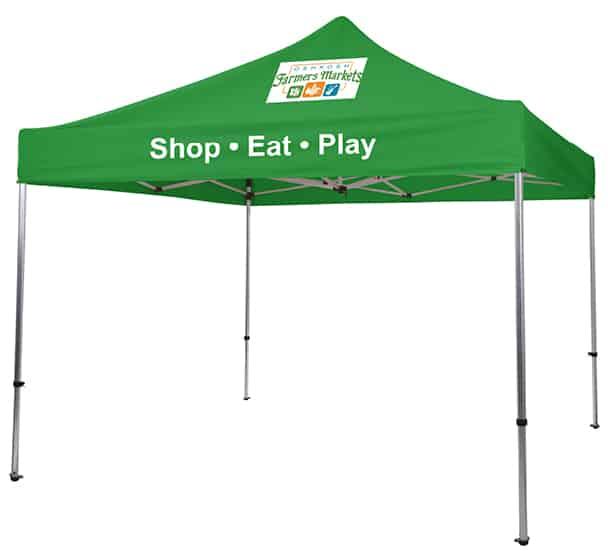 Oshkosh Farmers Market branded tent