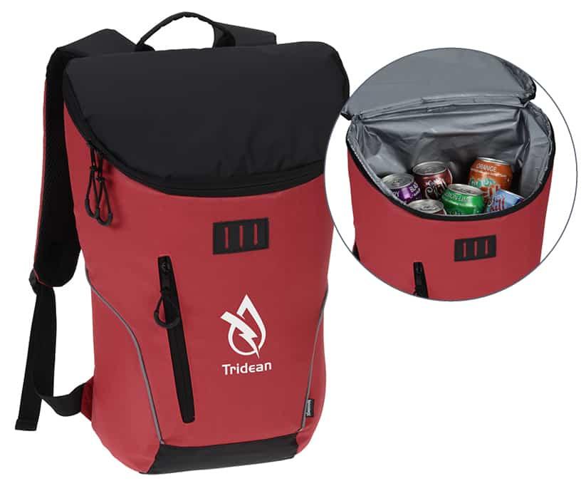 Red Backpack Cooler