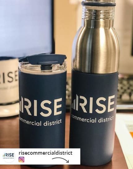 insulated travel drinkware with interchangeable lids.