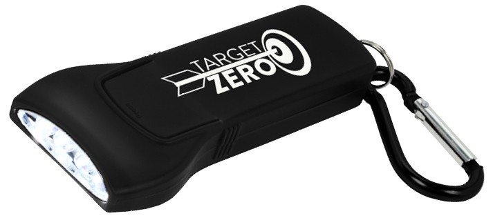 Branded flashlight with carabiner