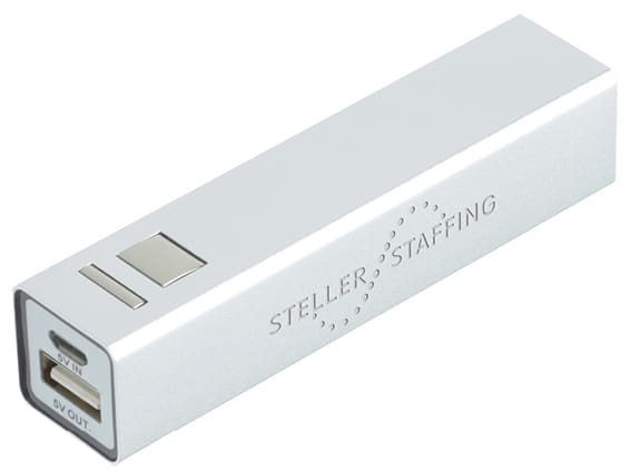 Branded power bank for charging electronics