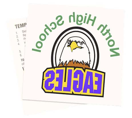 North High School Eagles Temporary Tattoo