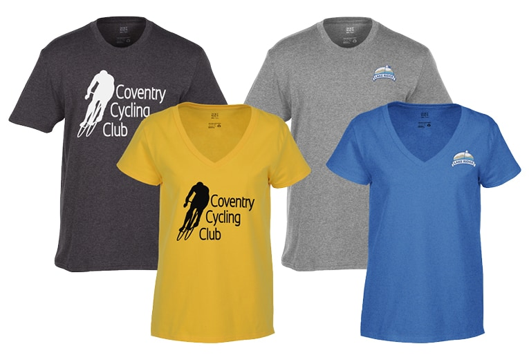 4 branded t-shirts