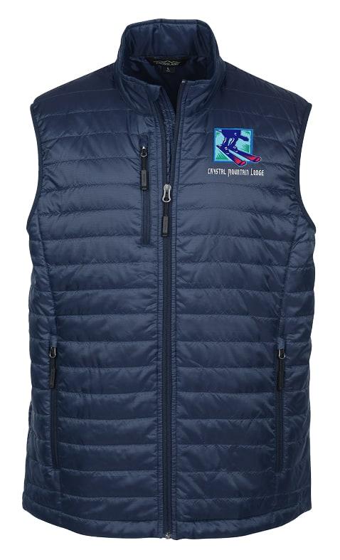 branded puffer vest