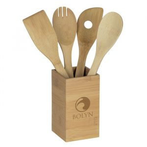 Bamboo_4_piece_Kitchen_Tool_Set_in_Canister_Bamboo_Promotional_Products_from_4imprint