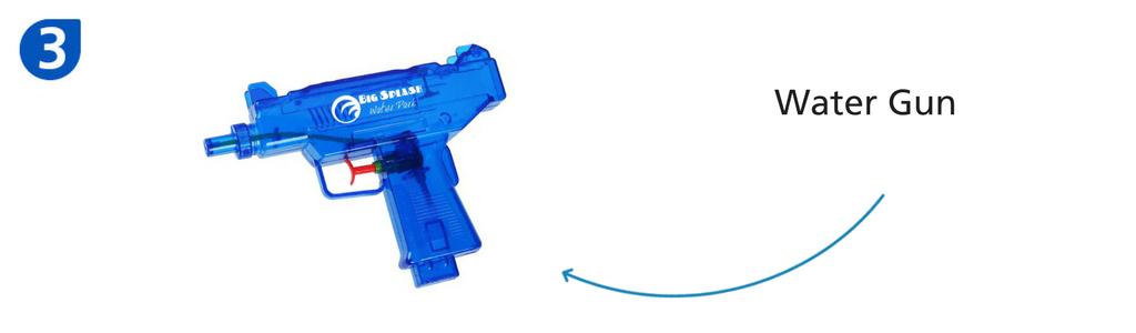 Number three: blue water gun