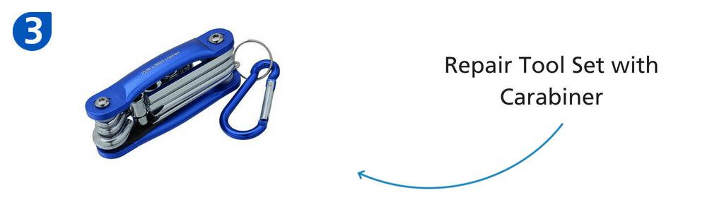 Number three: repair tool set with carabiner