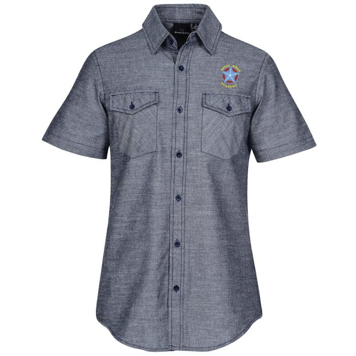 Burnside Chambray Short Sleeve Shirt | Company apparel from 4imprint.