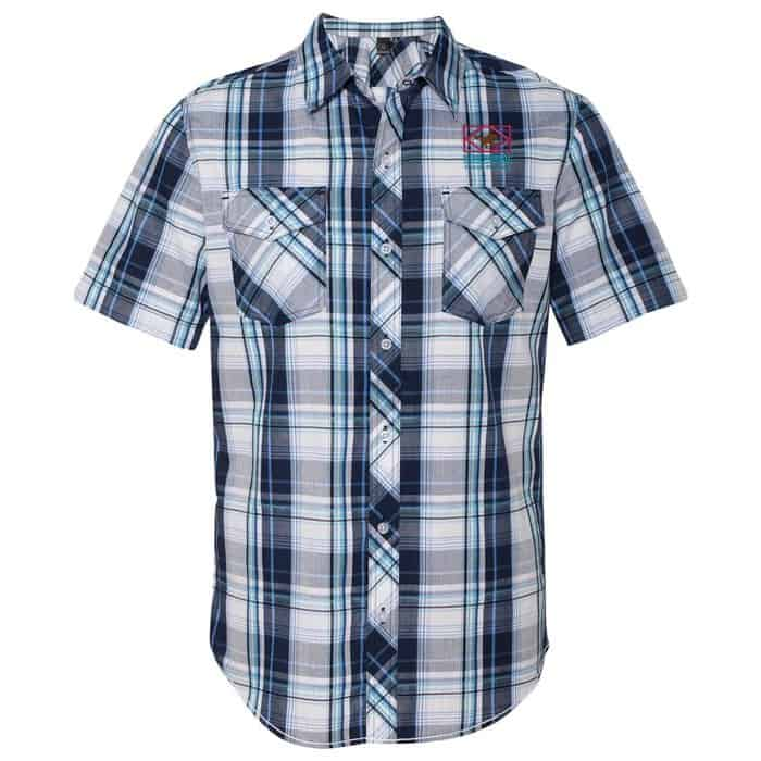 Burnside Plaid Short Sleeve Shirt | Cool company apparel from 4imprint.