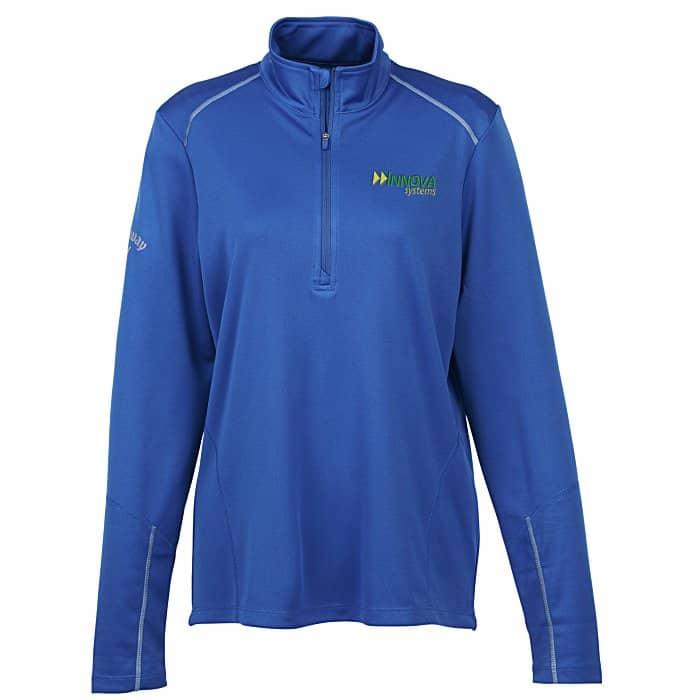 Callaway® Water Repellent 1/4-Zip Pullover – Ladies | 4imprint custom golf gifts