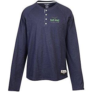 Champion Originals Long Sleeve Henley l Athleisure custom branded apparel from 4imprint.
