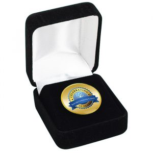 Circle Lapel Pin with Gift Box - custom awards from 4imprint promotional products