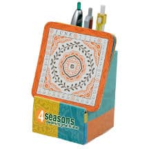A multi-colored Coaster Desktop Calendar from 4imprint.