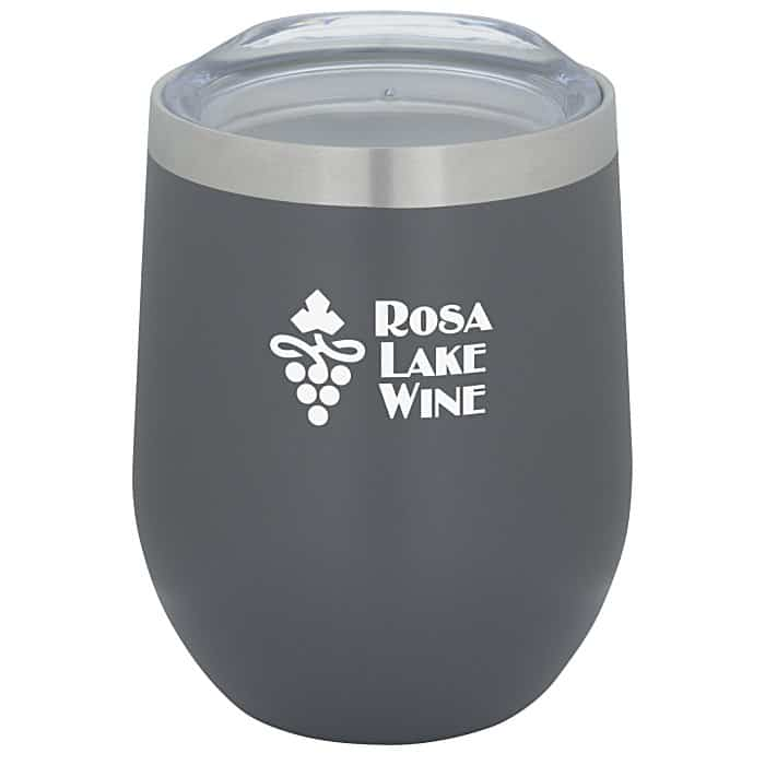 Corzo Vacuum Insulated Wine Cup   4imprint drinkware gifts.