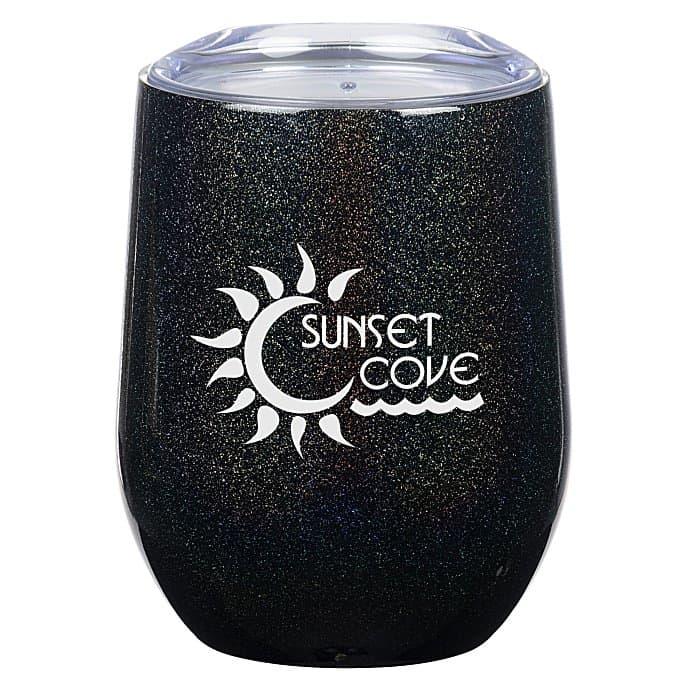 Corzo Vacuum Insulated Wine Cup — Iridescent   4imprint drinkware gifts.