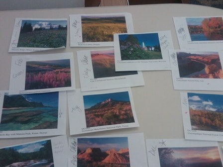 Creating the Seasons Across America Calendar - Photo Selection