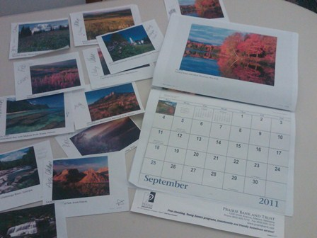 Creating the Seasons Across America Calendar - Photo Selection and Placement