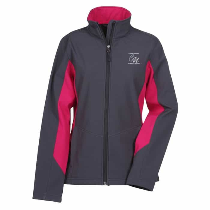 Crossland Colorblock Soft Shell Jacket Ladies - Corporate logo jackets