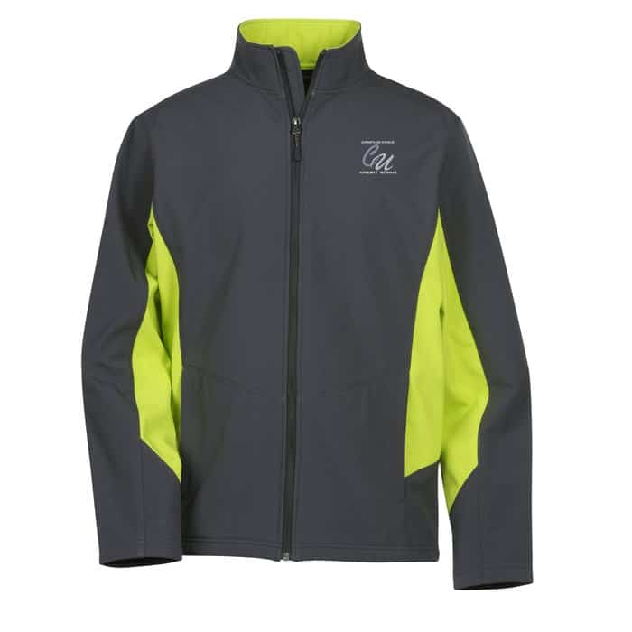Crossland Colorblock Soft Shell Jacket Mens - Corporate logo jackets